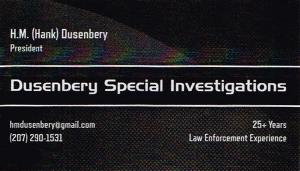 Dusenbery Sponsor Ad